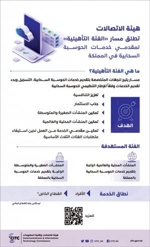 «هيئة الاتصالات» تطلق مسار «الفئة التأهيلية» لمقدمي خدمات الحوسبة السحابية